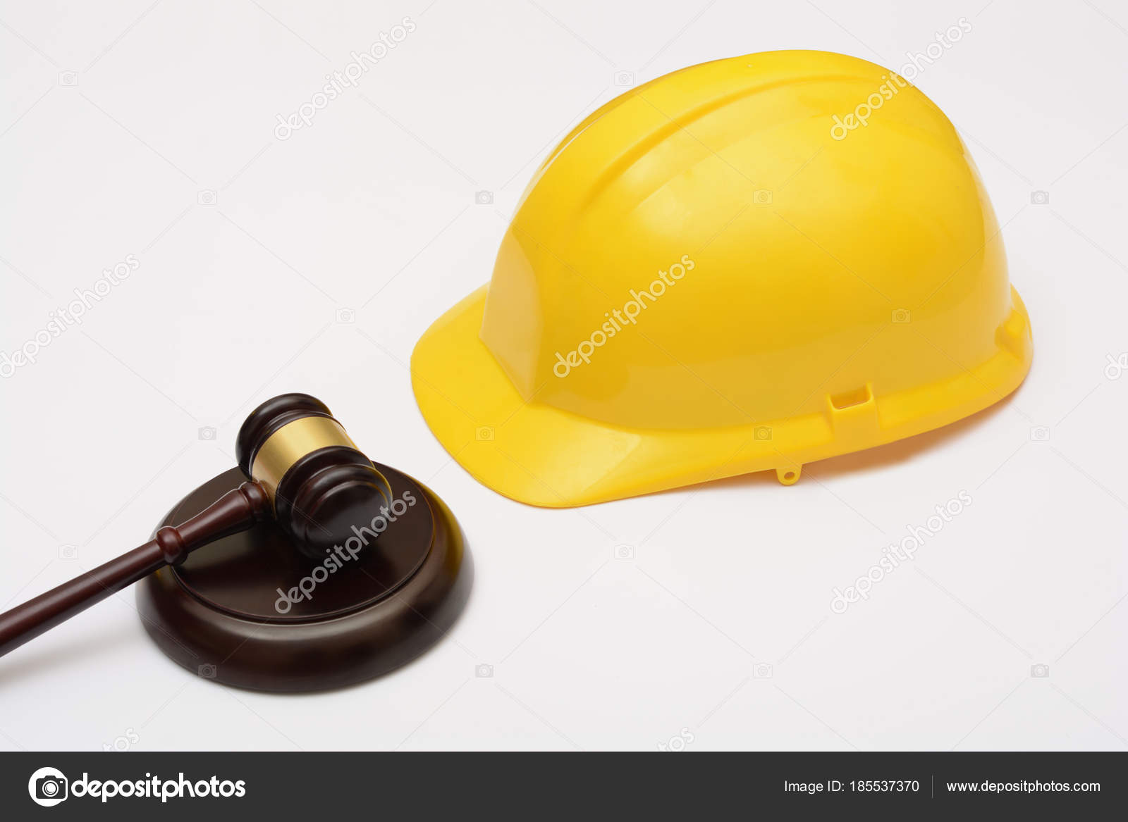 Labor Safety Labor Law With Safety Helmet And Gavel Stock Photo Stockyme