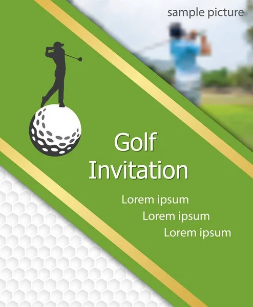 Golf Tournament Invitation Flyer Template Graphic Design Golfer - golf tournament flyer template