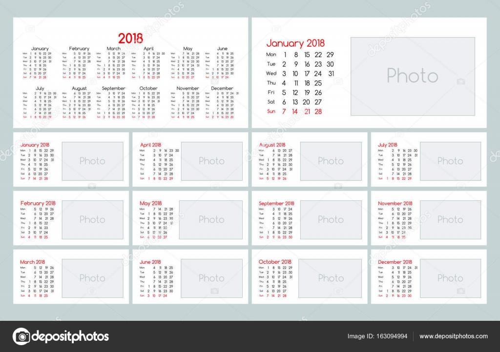 Calendar 2018 Daily Planner Template \u2014 Stock Vector © meookami - daily organizer template