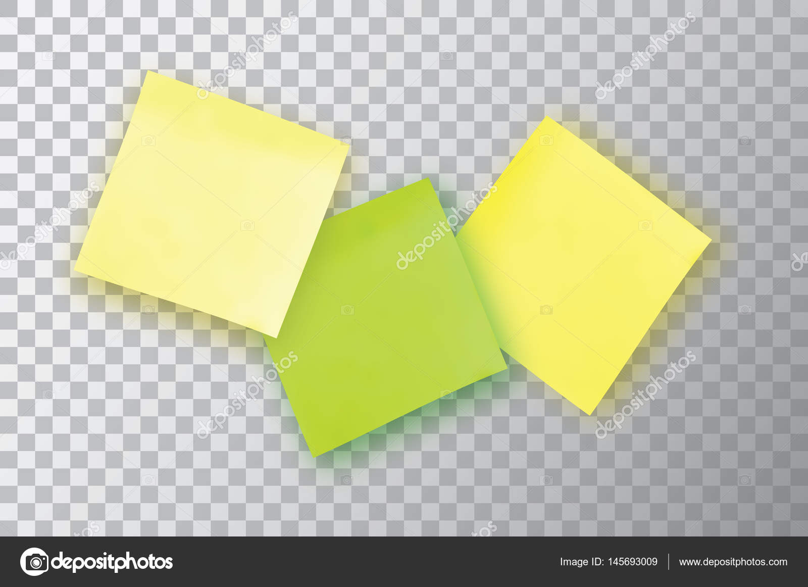 3 Colorful sticky note Template for your projects Three Sticker