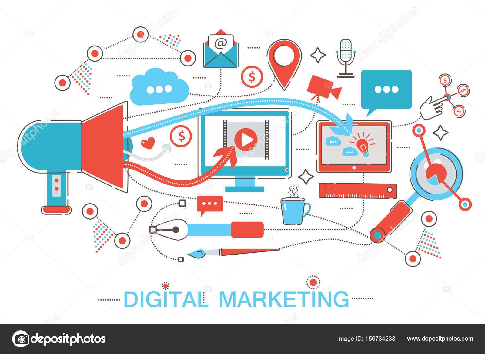 Tarjetas digitales en línea Marketing Digital online y red social