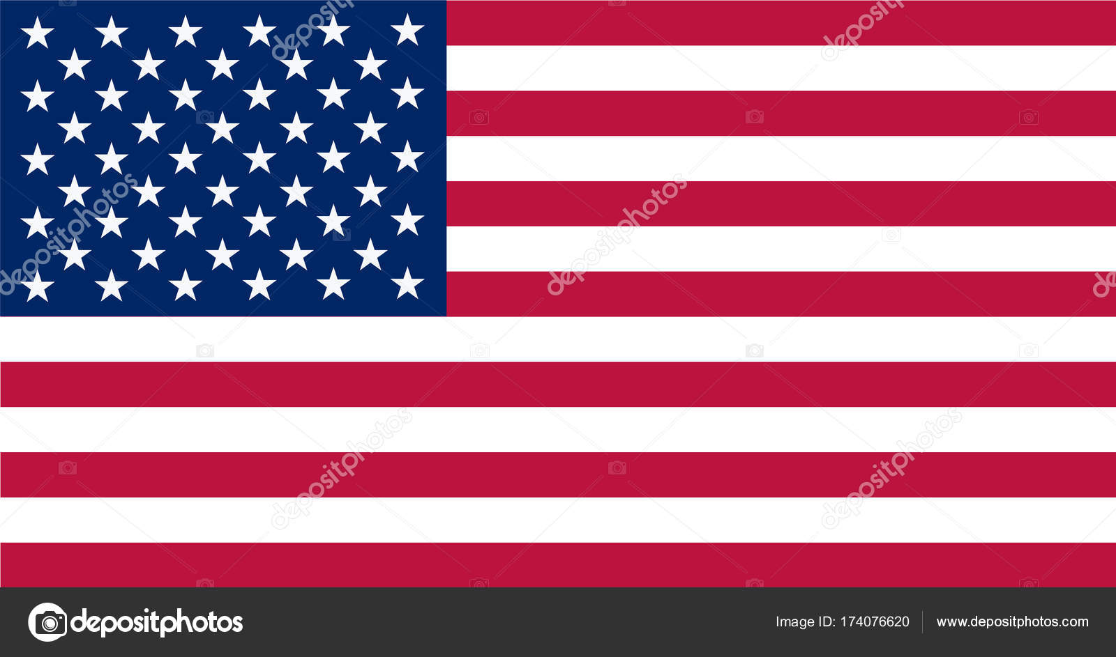American Flag Vector image of American Flag American Flag - America Flag Background