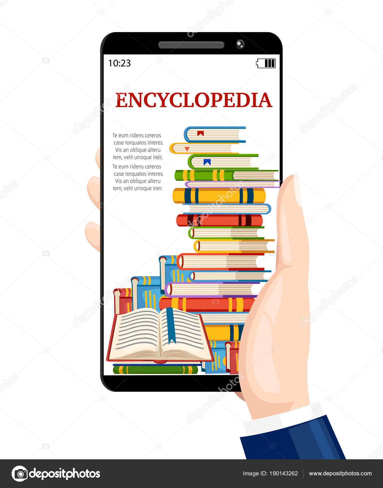 Libros Digitales Free Hand Keeps The Smartphone With Digital Books Online Library