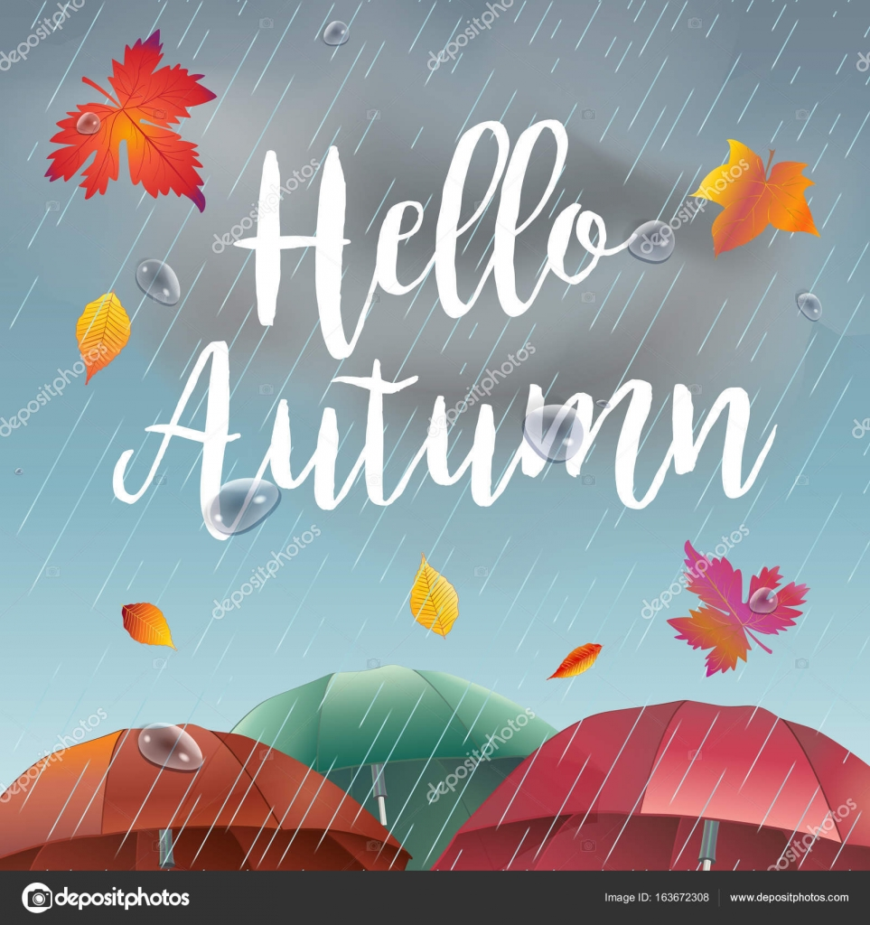 Autumn Falling Leaves Live Wallpaper Rainy Day Hello Autumn Rainy Day Landscape With Fall