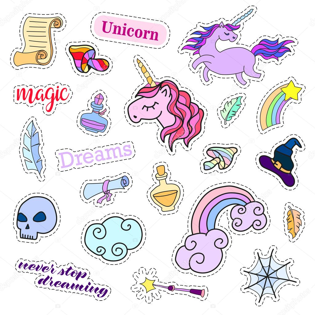 Cute Squishies Wallpaper Fashion Patch Badges Magic Set Stickers Pins Patches