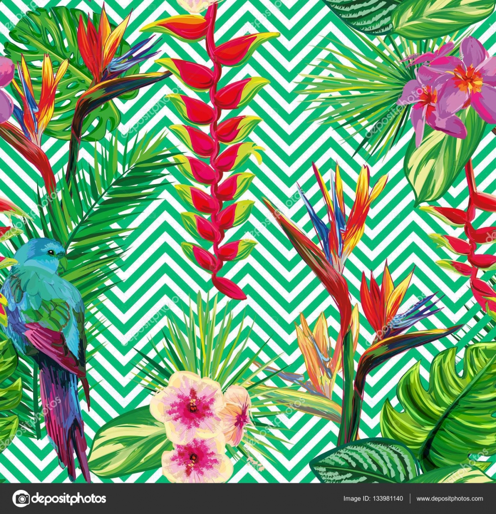 Seamless Tropical Jungle Floral Pattern Beautiful Stock Auto. Seamless Tropical Jungle Floral Pattern Beautiful Stock. Wiring. Wire Diagram Pioneer Premier Deh P480mp Product At Scoala.co