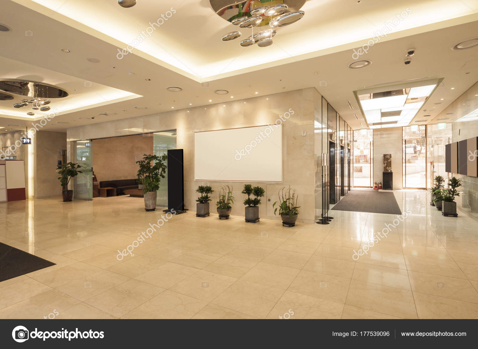 Hotel Lobby Modern Classic Hotel Lobby Stock Photo Earlyspring 177539096