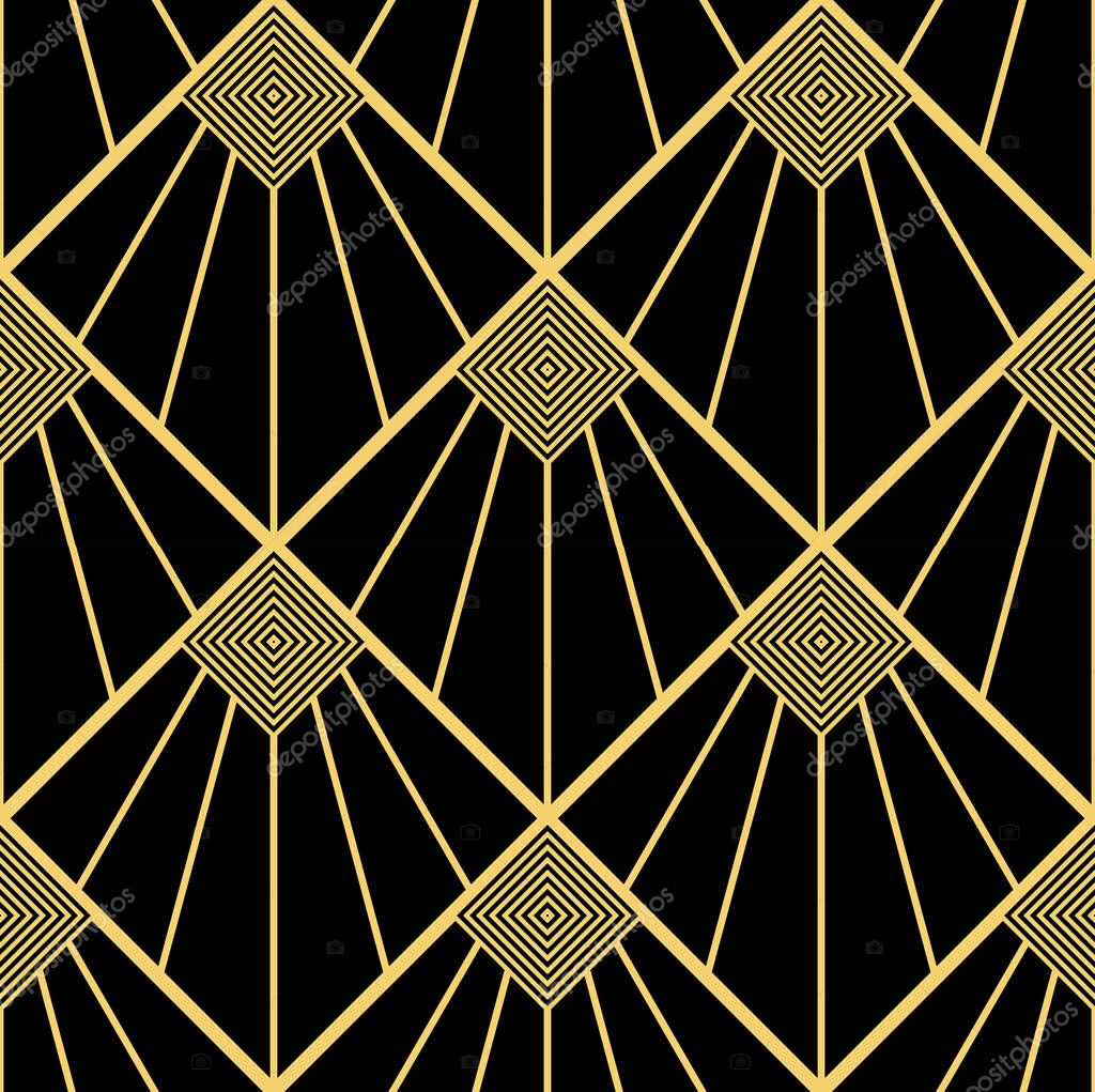 Decoration Art Deco Art Deco Naadloze Pattern Decoration Ornament Stockvector
