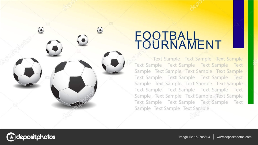 Abstract football (soccer) vector background template \u2014 Stock