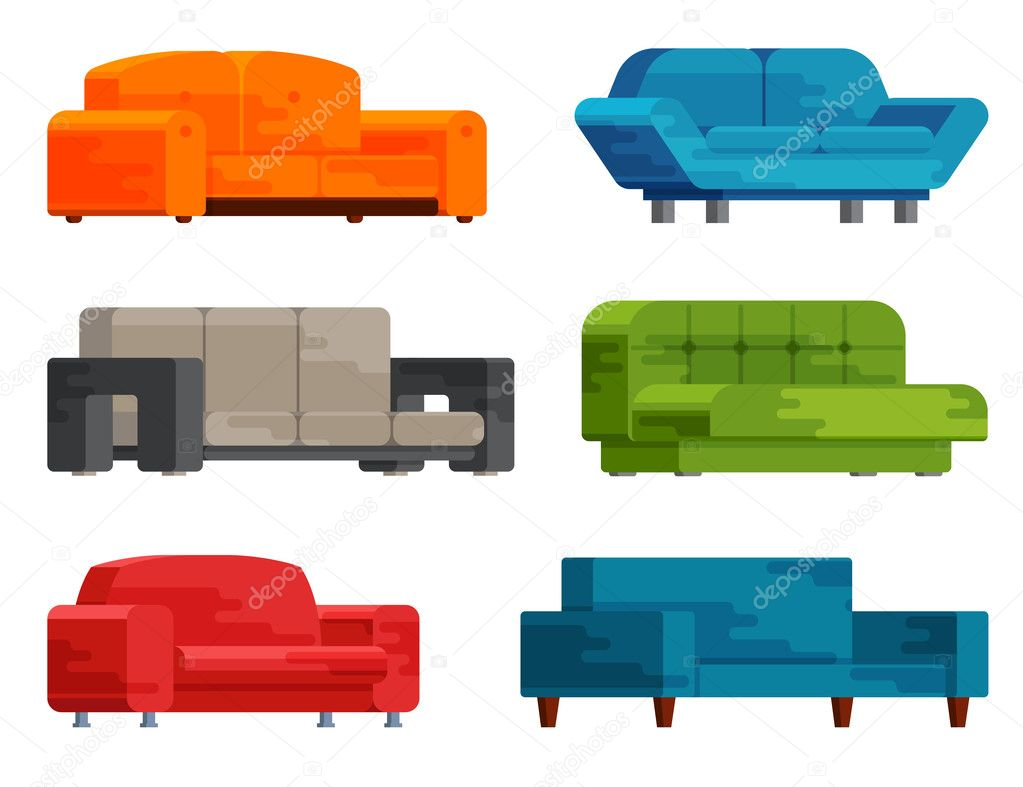 Sofa Set Vector Free Download Illustration Of Sofa Set Stock Vector Fasjaka 127344814