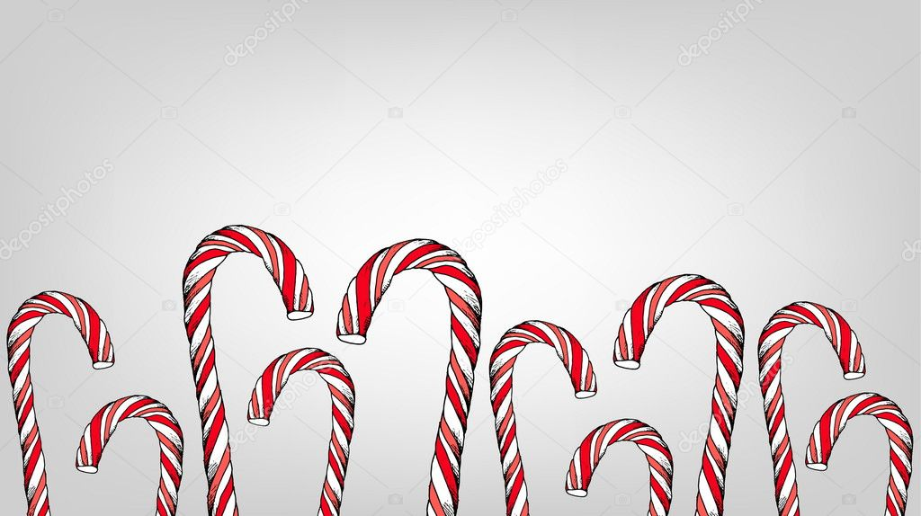 Christmas candy cane vector illustration template \u2014 Stock Vector