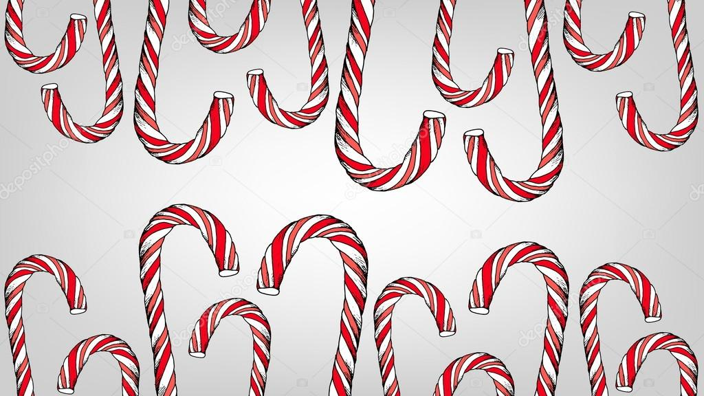 Christmas candy cane vector template \u2014 Stock Vector © Tanya_Gord
