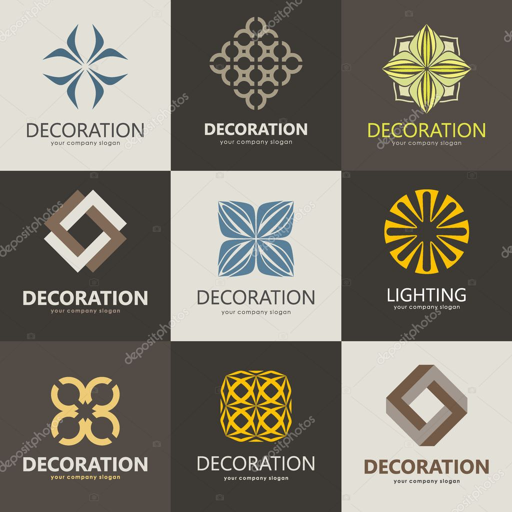 Home Decoration Collection A Collection Of Logos For Interior Furniture Shops Decor Items