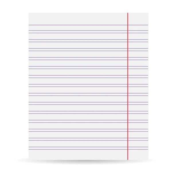 Sheet of paper in line \u2014 Stock Vector © vitalik19111992 #62072051 - blank sheet of paper with lines