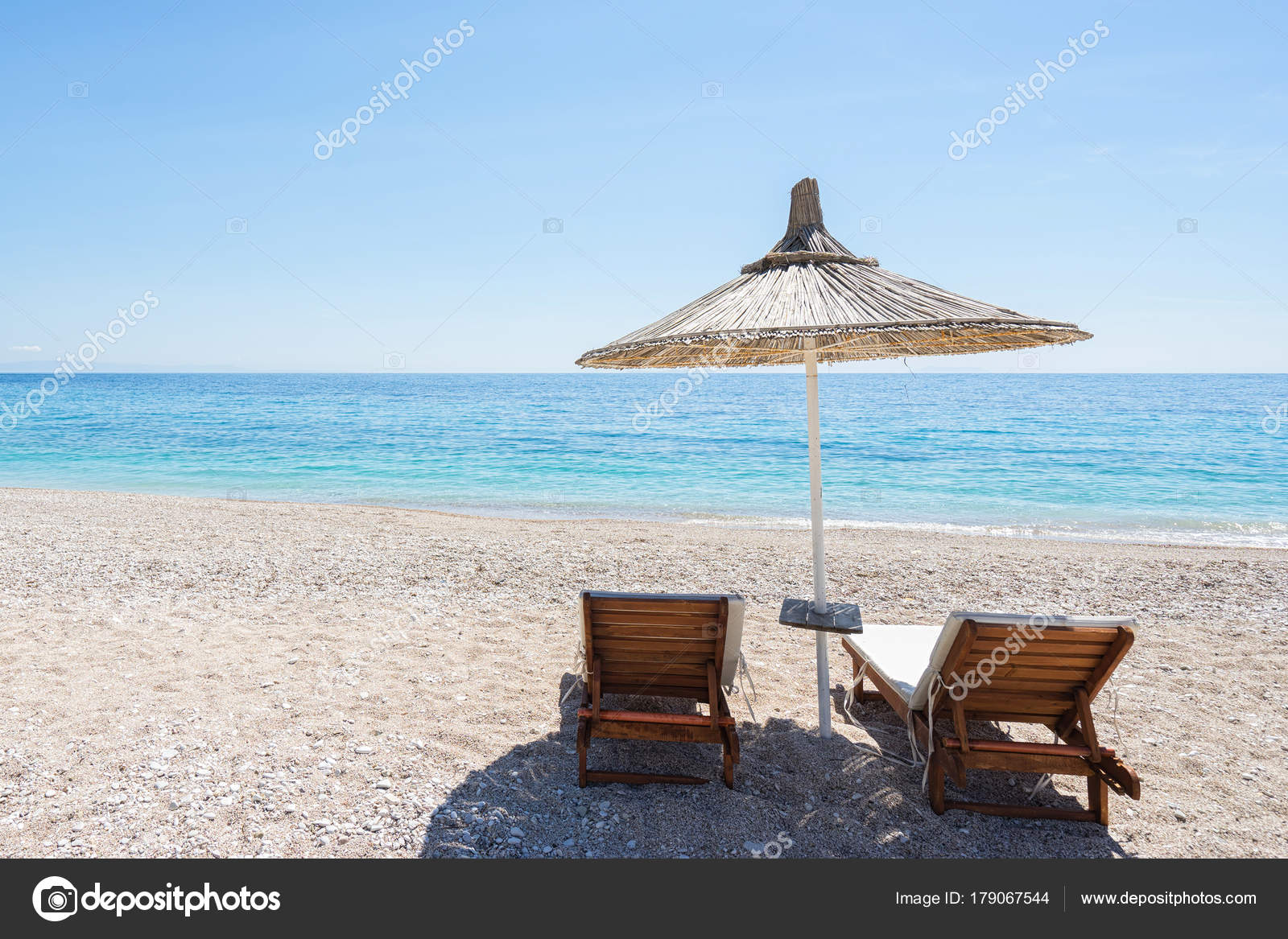 Umbrella Beach Chairs Beach Europe Stock Photo Image By Upslim 179067544