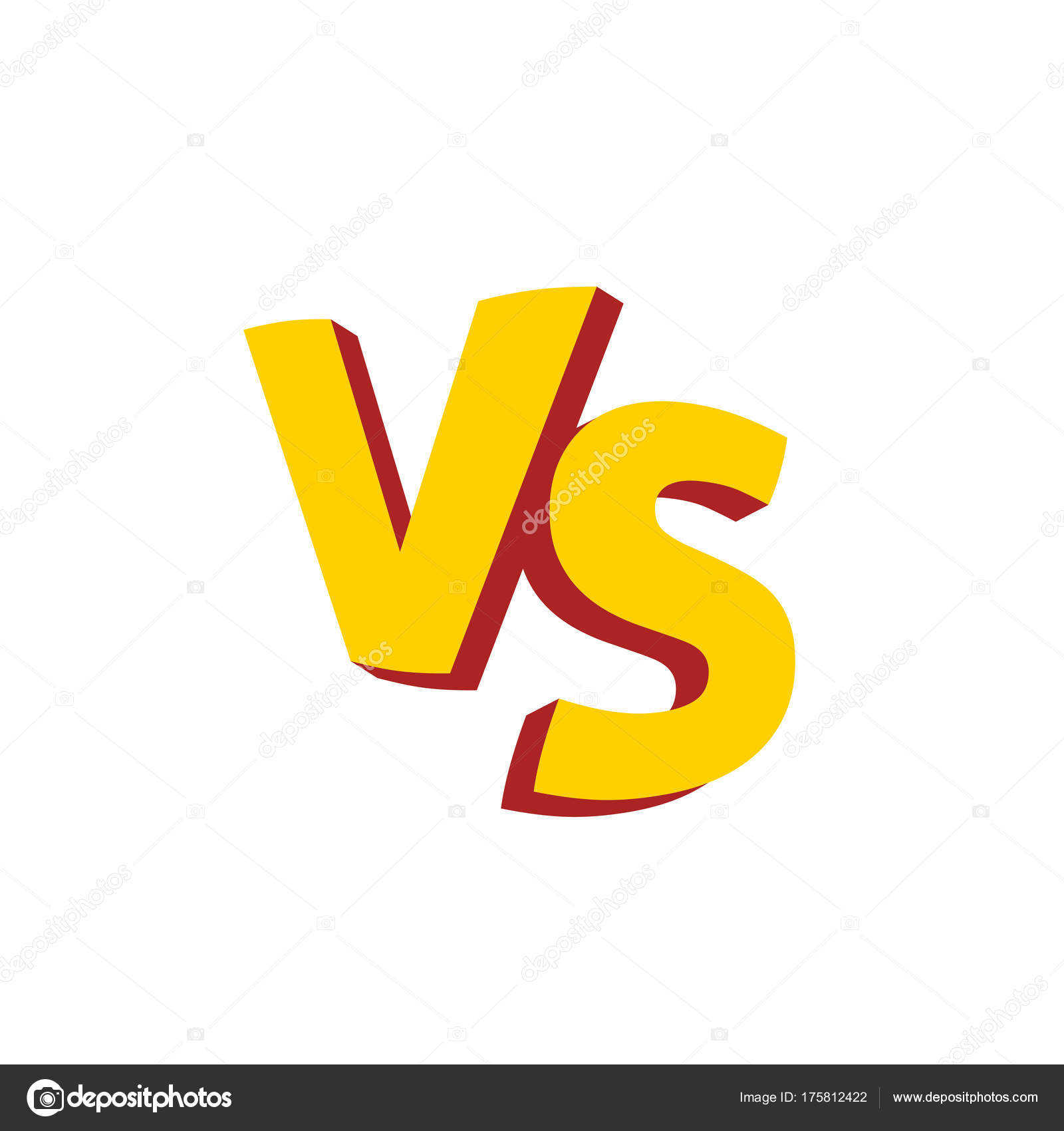 / Vs Versus Letters Or Vs Logo Vector Emblem Stock Vector