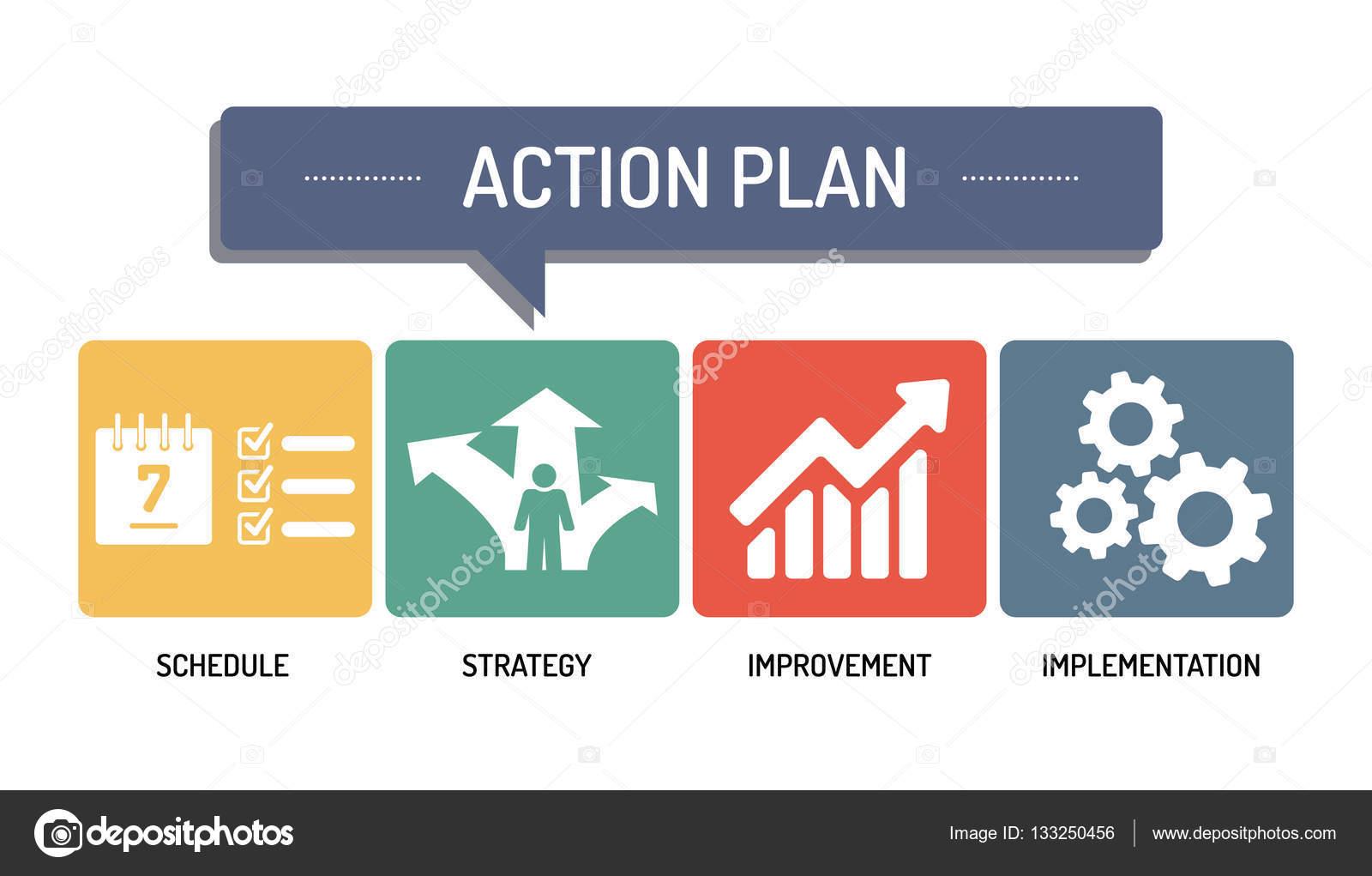 ACTION PLAN - ICON SET \u2014 Stock Vector © garagestock #133250456