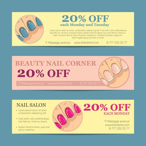 Set of horizontal banner, flyer, business card or discount coupon - coupon flyer