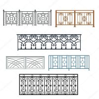 Balcony Railing Vector illustration  Stock Vector