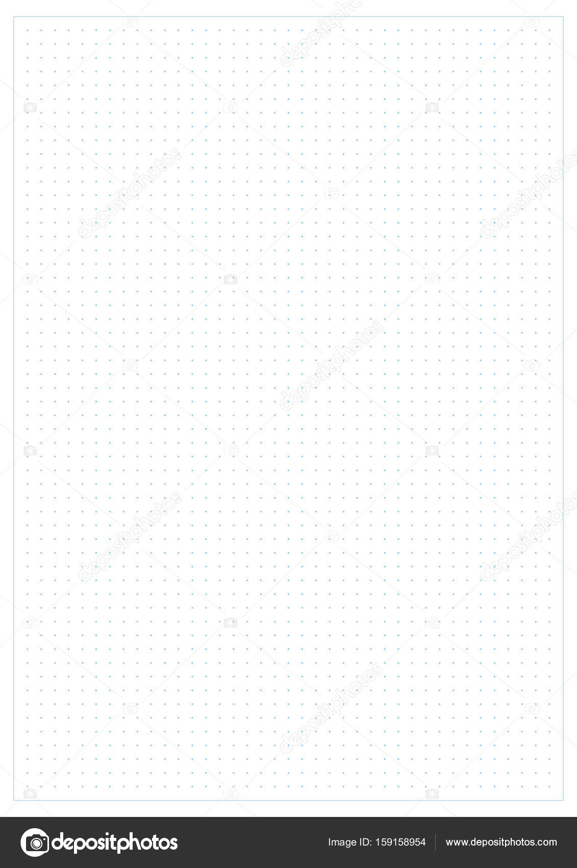 Dotted grid graph paper background \u2014 Stock Vector © laverock #159158954