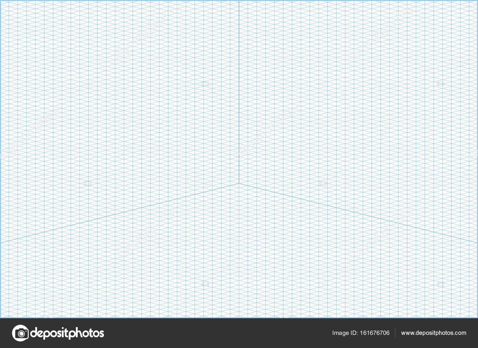 Wide angle isometric grid graph paper background \u2014 Stock Vector