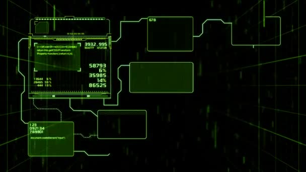 Beautiful Flowcharts Drawing Animation with Flashes and Lines Green
