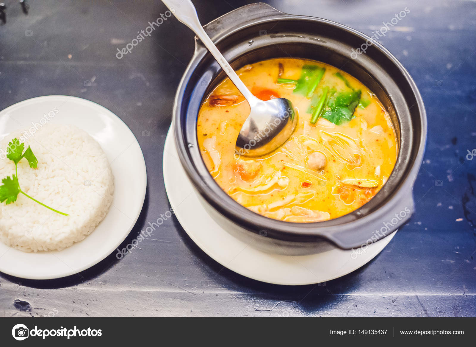 Cuisine Yam Tom Yam Kung Thai Cuisine Thai Food Stock Photo Galitskaya