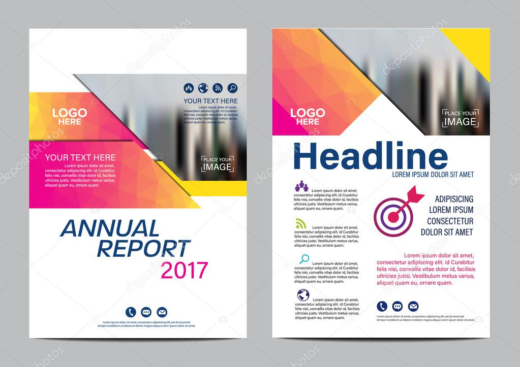 Pink Brochure Layout design template Annual Report Flyer Leaflet