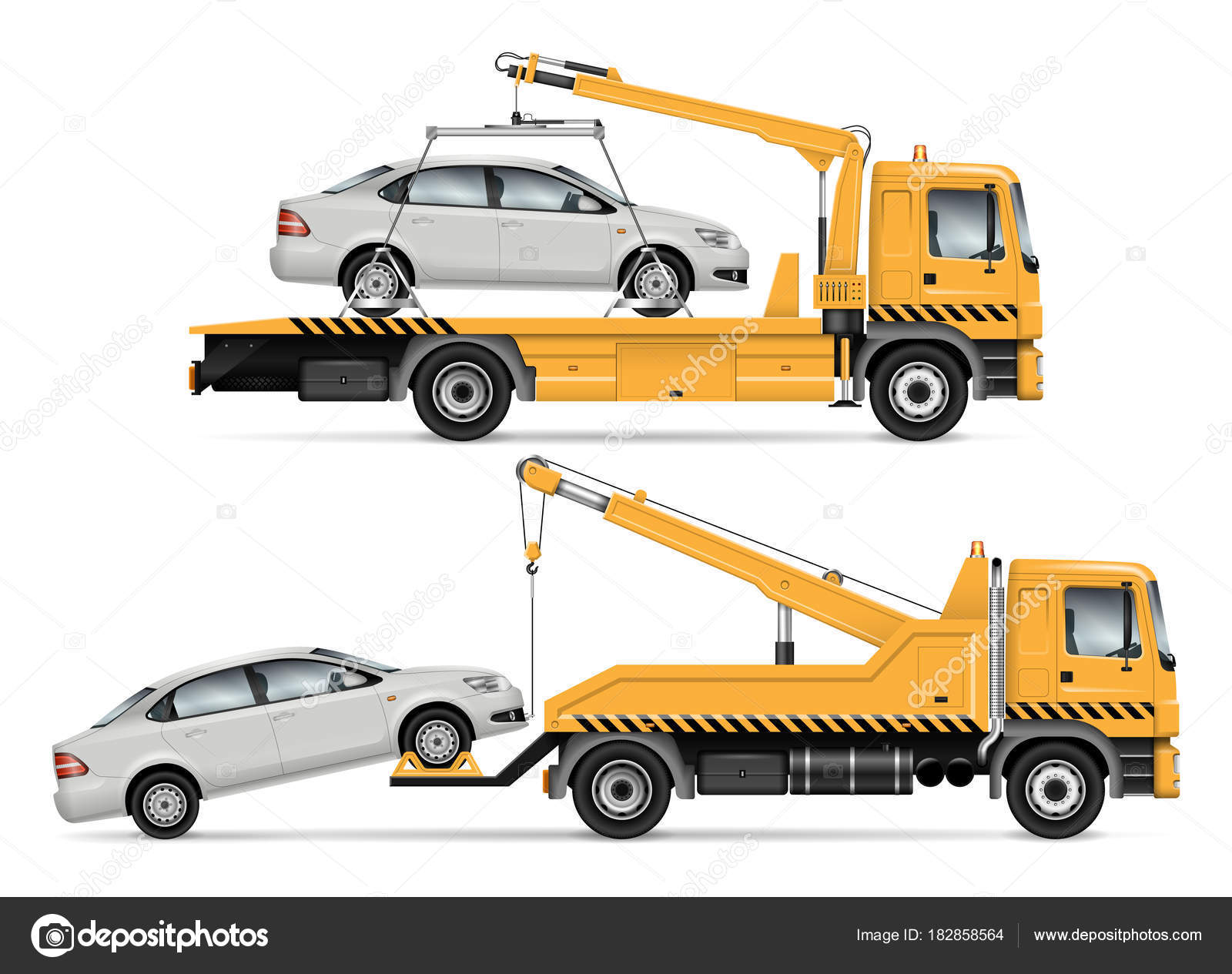 Tow Truck Tow Truck Vector Illustration Stock Vector Imgvector 182858564