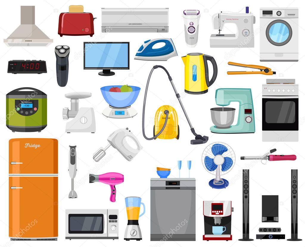 Electronica Del Hogar Set Of Home Kitchen And House Electronics Appliances