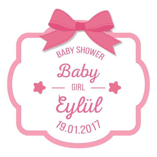 3d Yamaha Wallpaper Kurdeleli Baby Shower Kız Bebek Sticker Stickerim Com