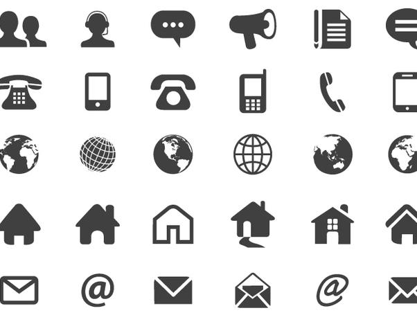 icones contact cv gratuit