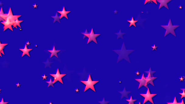 Abstract Animated Computer Screen Saver Background Moving Red Stars