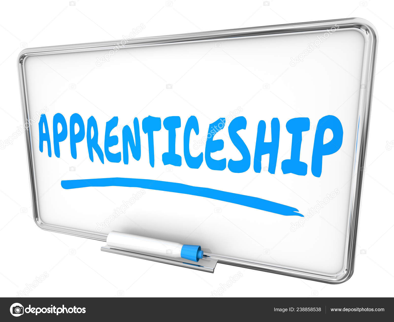 Apprenticeship Job Apprenticeship Job Learning Dry Erase Board Illustration Stock
