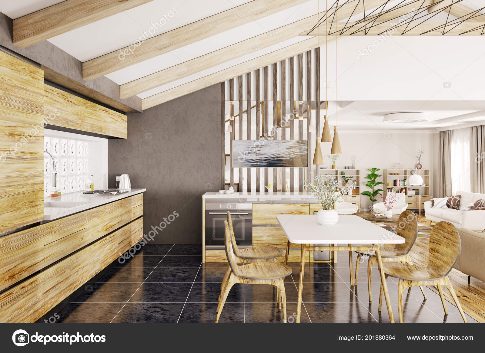 Design Interieur Maison Bois | Interieurs Maisons Maison Bois Avec ...