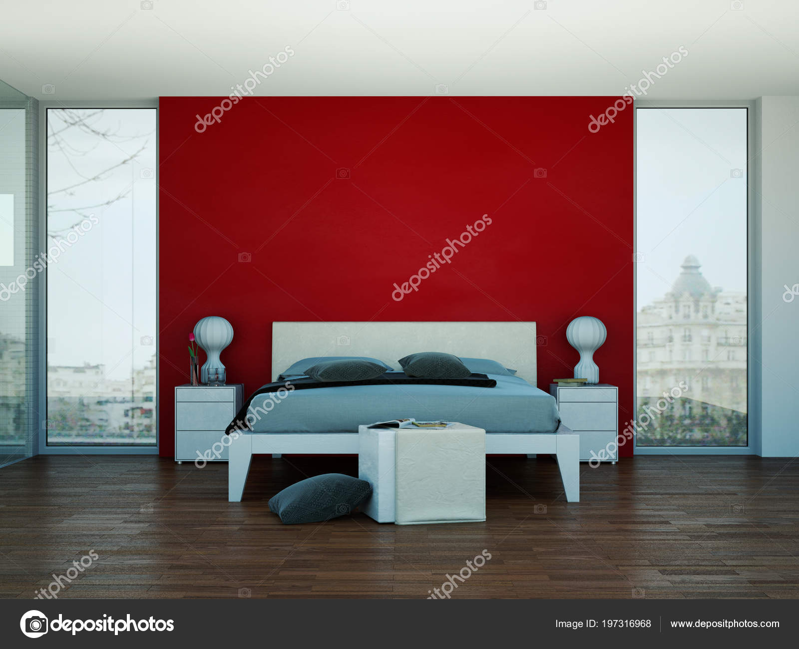Rotes Schlafzimmer Feng Shui Schlafzimmer Rote Wand