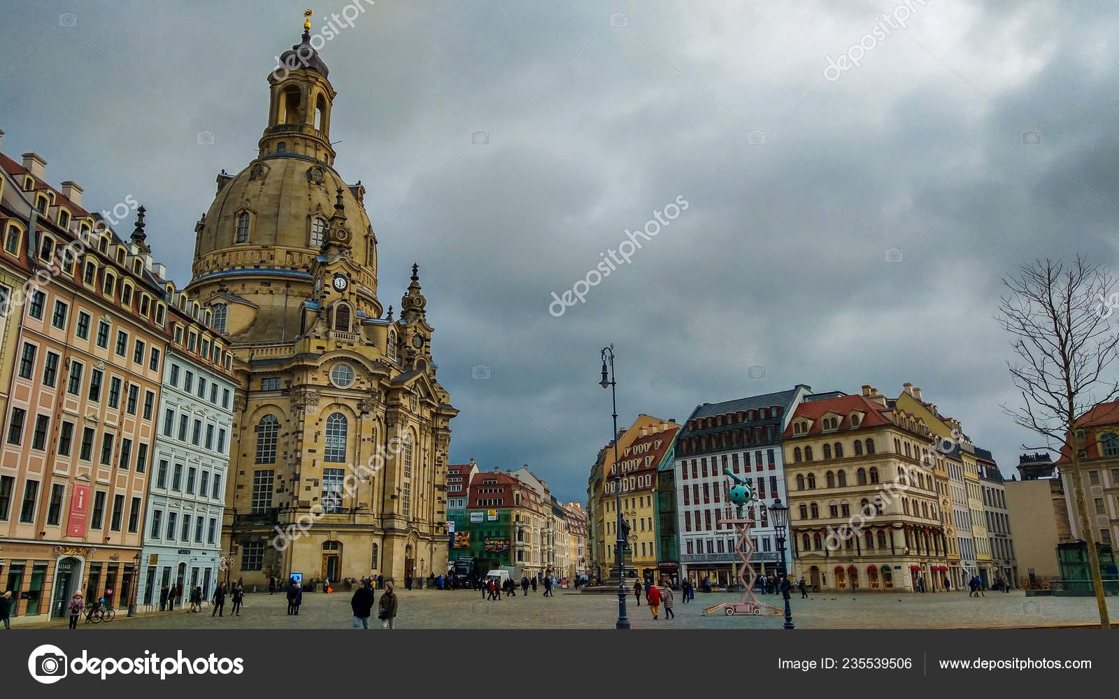 Bebe Dresden Dresden Germany January1 2019 Gorgeous View Baroque Church