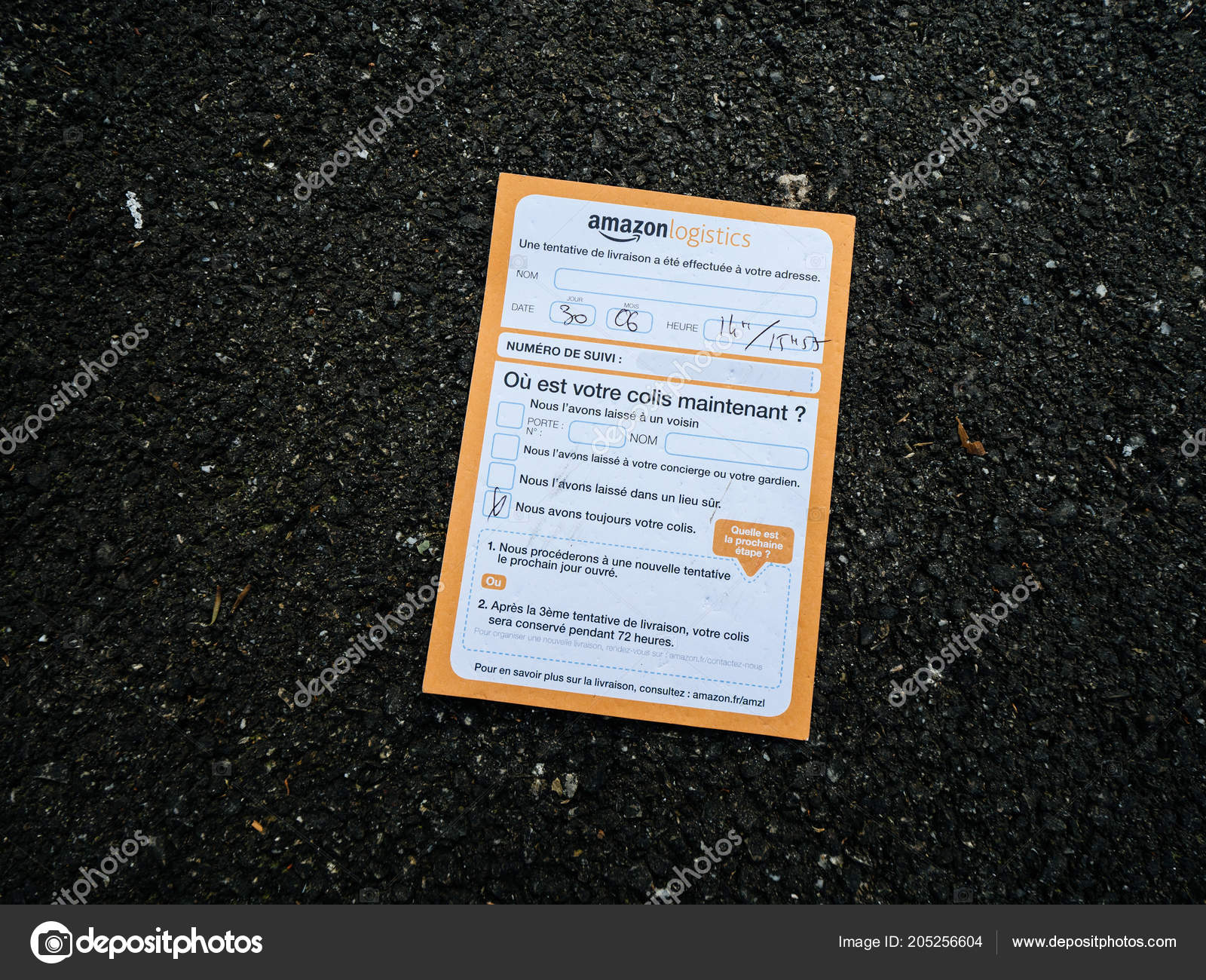 Amazon Usa Livraison France Amazon Logistics Letter Notice Delivery Stock Editorial Photo