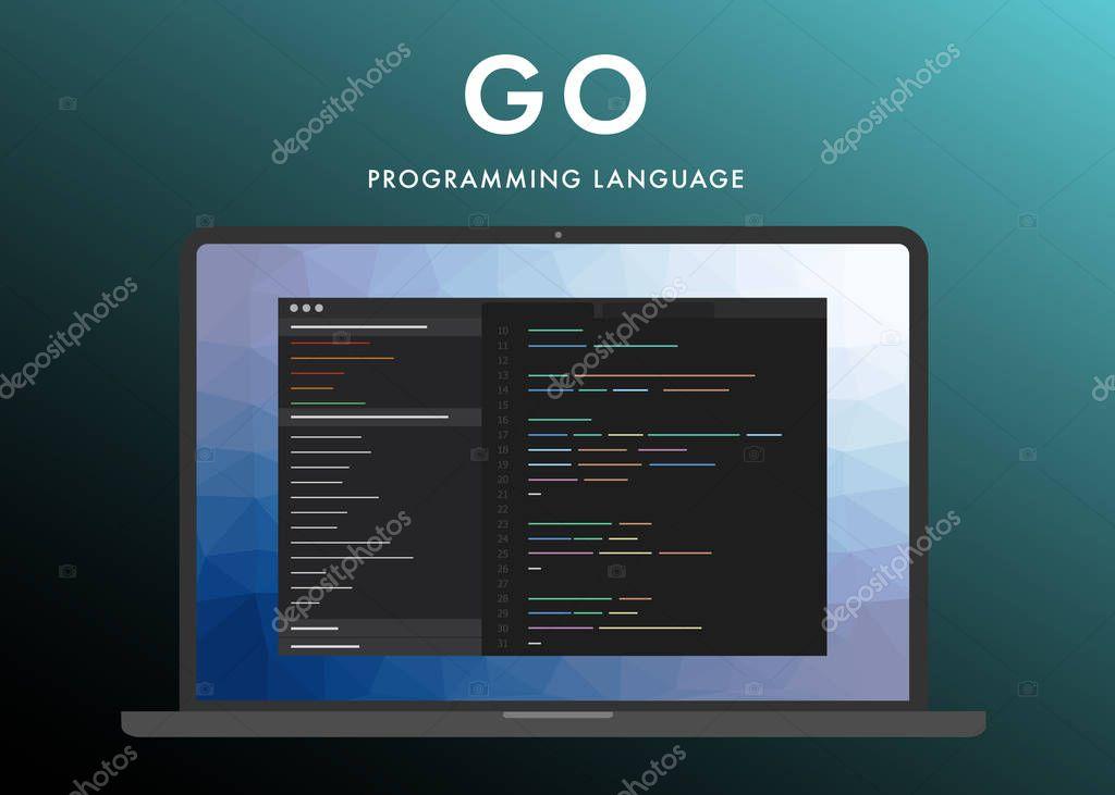 Go programming language \u2014 Stock Vector © bestforbest #244512094