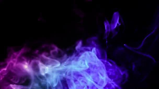 Purple and blue mixed smoke black background \u2014 Stock Video © puzurin