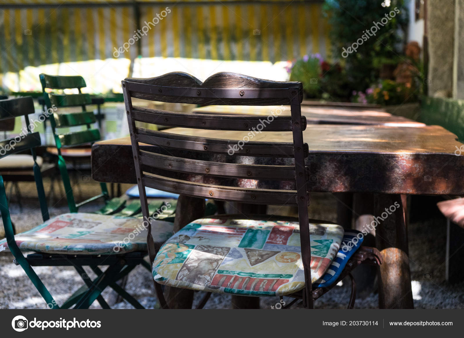 Bar Pour Terrasse Chaise Tables Terrasse Restaurant Café Bar Confortable Place Pour