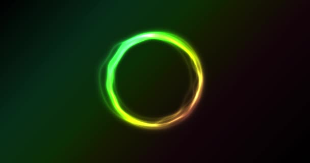 Abstract Neon Circles Spinning Animation Animated Abstract Shiny