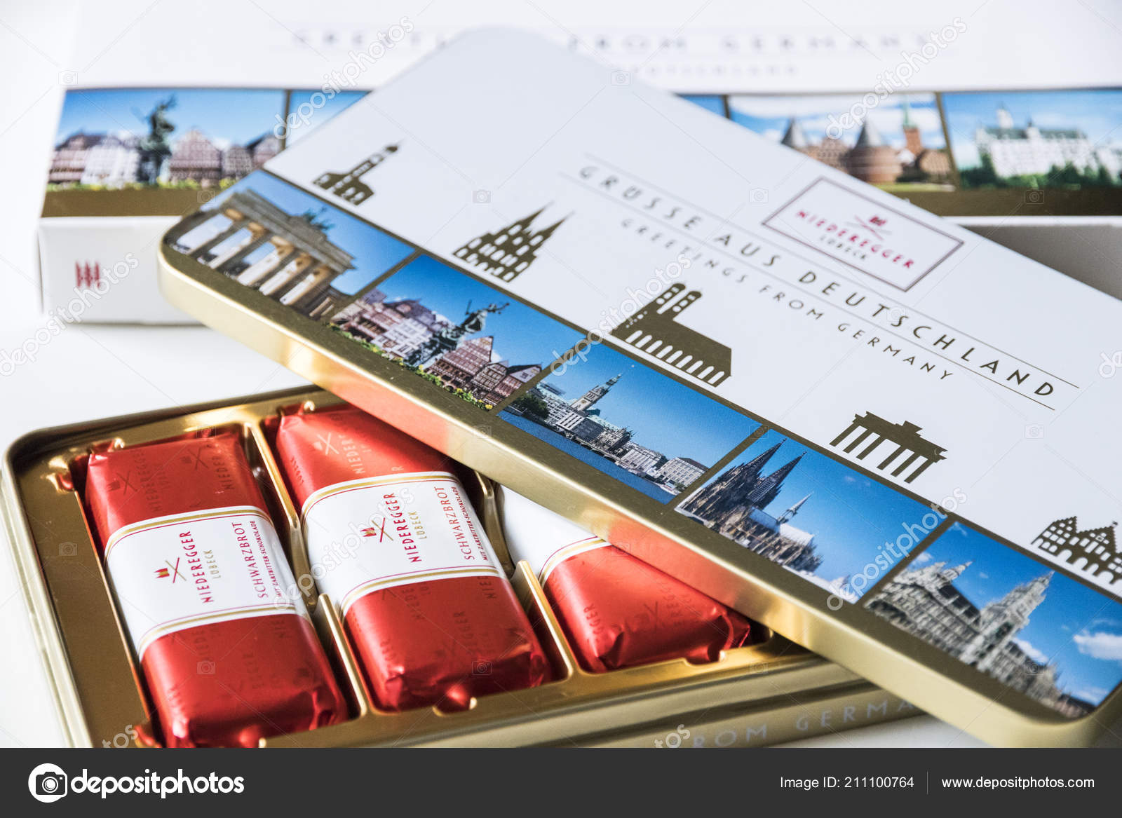 Lübeck Card Lubeck Germany Lubeck Marzipans Open Box Produced Niederegger Gmbh
