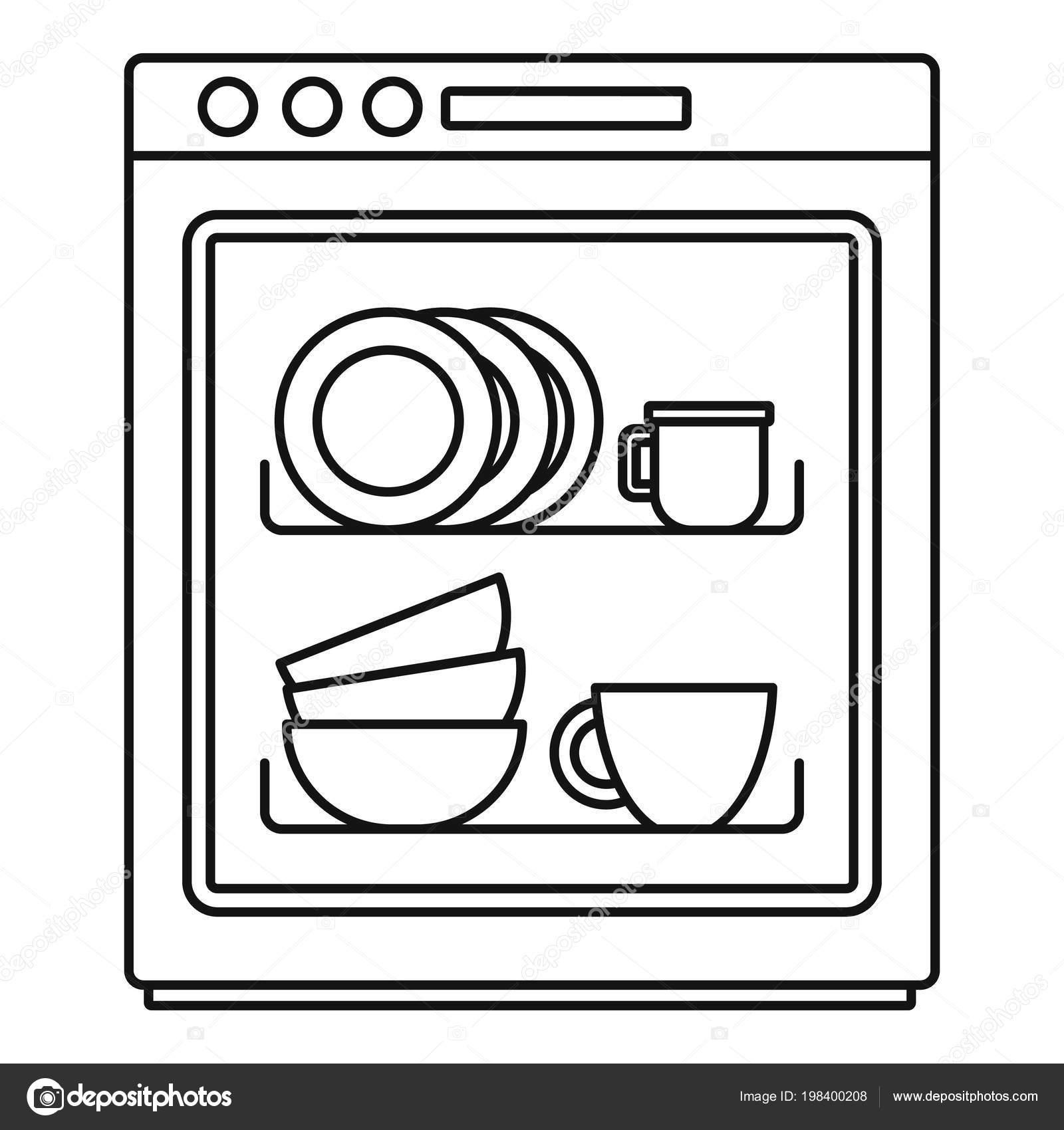 Zeichen Geschirrspülmaschine Geeignet
