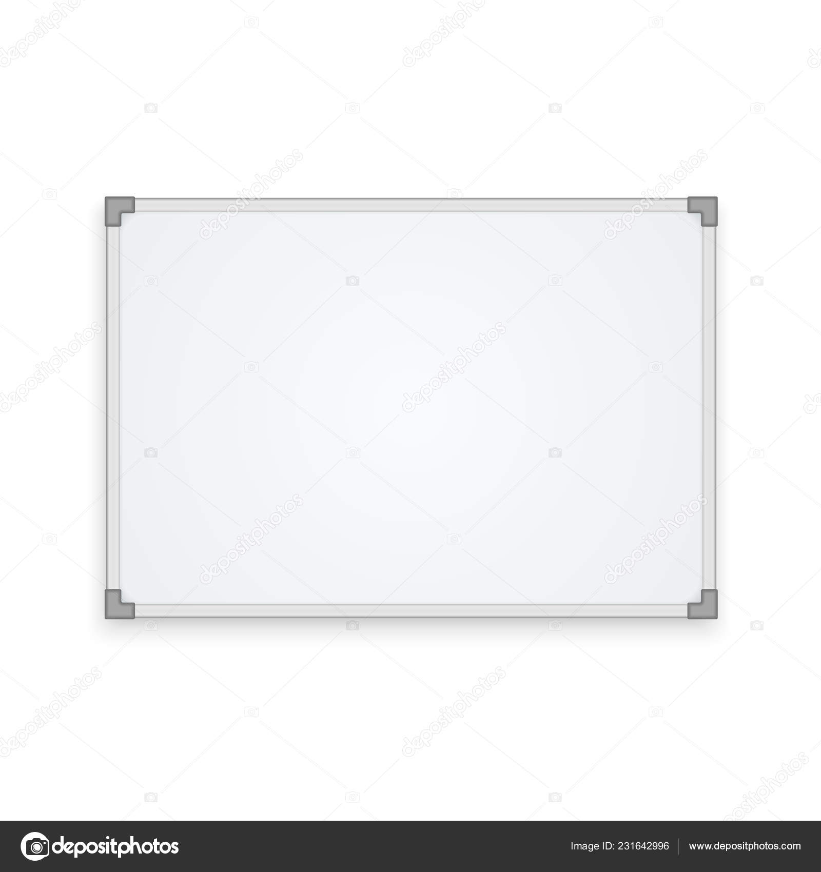 Whiteboard Ständer Empty Whiteboard Isolated On White Background Vector Mockup Eps