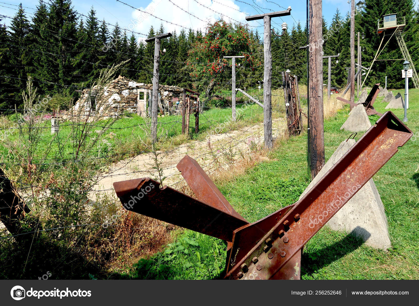 Former Communism Iron Curtain In Bucina National Park Sumava In - Eiserner Vorhang English