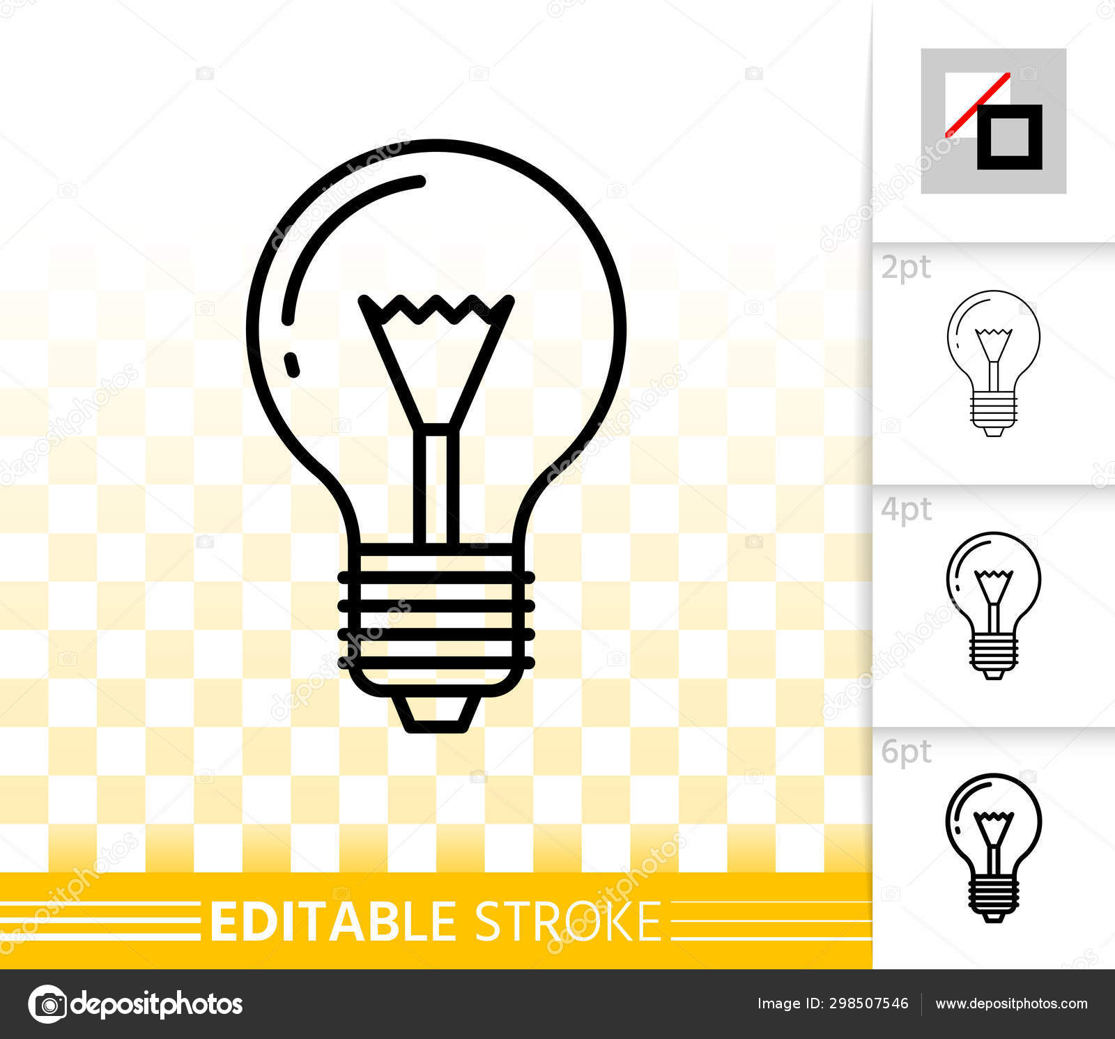 Glass Lamp Vector Light Bulb Glass Lamp Simple Thin Line Vector Icon Stock