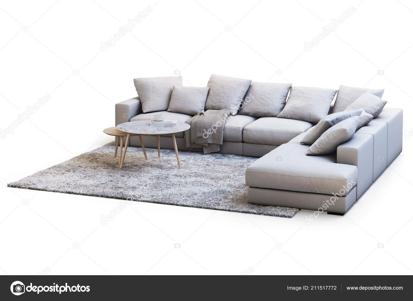 Sofa Set Images Free Download Modern Furniture Set Sofa Carpet Coffee Tables White Background