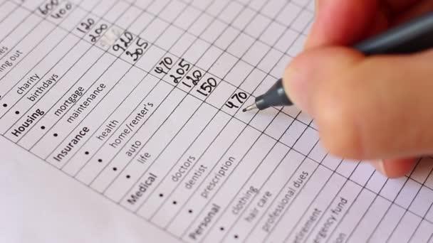Family Spending Money Saving Control Monthly Living Expenses \u2014 Stock