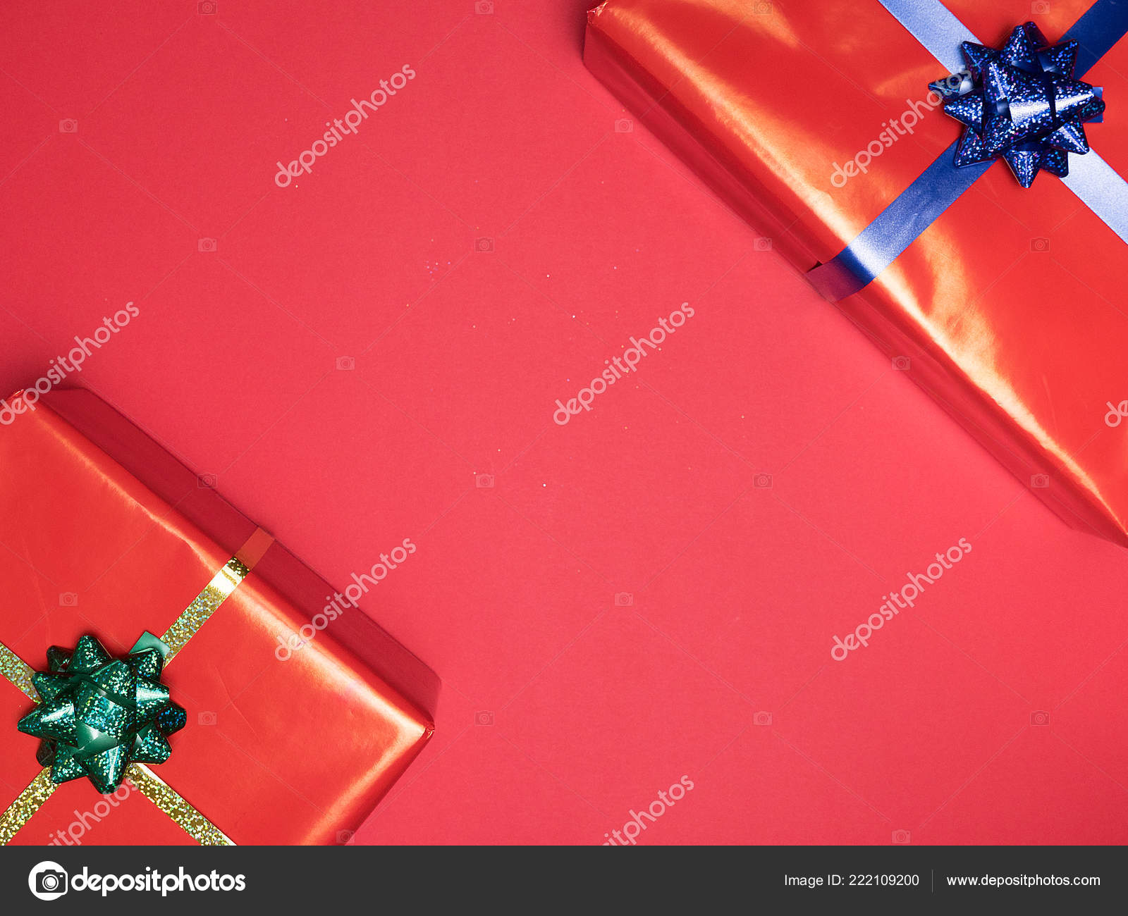 Christmas Background Gif Beautiful Christmas Red Gif Boxe On Red Background Stock Photo